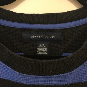 Tommy Hilfiger Tops - Blue & black stripe long-sleeve